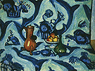 Still Life with Blue Tablecloth 1909 - Henri Matisse reproduction oil painting