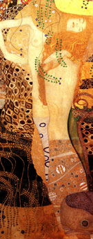 Water Serpent 1 - Gustav Klimt reproduction oil painting