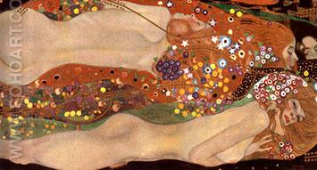 Water Serpents II - Gustav Klimt reproduction oil painting
