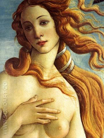 Botticelli The Birth of Venus - Detail 1485 - Sandro Botticelli reproduction oil painting