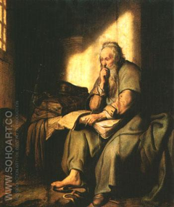 The Apostle Paul in Prison - Rembrandt Van Rijn reproduction oil painting