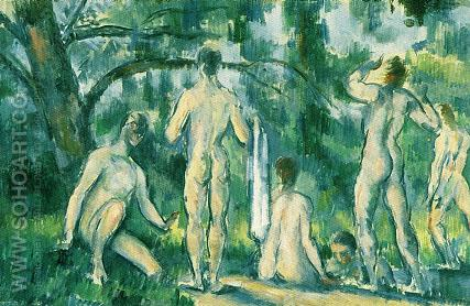 Bathers - Paul Cezanne reproduction oil painting