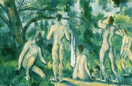 Bathers - Paul Cezanne reproduction oil painting