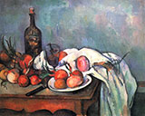 Still Life with Onions - Paul Cezanne reproduction oil painting