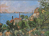 View from L'Estaque - Paul Cezanne reproduction oil painting