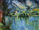Lake Annecy 1896 - Paul Cezanne reproduction oil painting