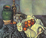 Still Life with Olive Jar - Paul Cezanne