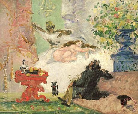 A Modern Olympia 1873 - Paul Cezanne reproduction oil painting