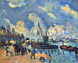 The Seine at Bercy - Paul Cezanne reproduction oil painting
