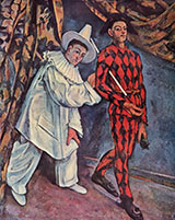 Mardi Gras 1888 - Paul Cezanne reproduction oil painting