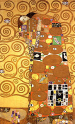 Fulfilment - Gustav Klimt reproduction oil painting