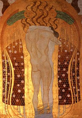 Hymn to Joy ( Detail 1) 1902 - Gustav Klimt reproduction oil painting