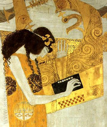 Hymn to Joy (Detail 2 1902) - Gustav Klimt reproduction oil painting
