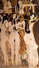 Hostile Forces  Detail 1902 - Gustav Klimt