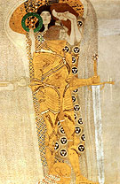 Yearning for Happiness Detail 1902 - Gustav Klimt reproduction oil painting