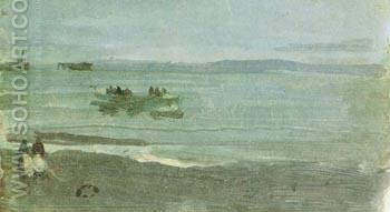 Grey and Silver Mist Lifeboat 1884 - James McNeill Whistler reproduction oil painting