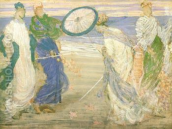 Symphony in Blue and Pink - James McNeill Whistler reproduction oil painting