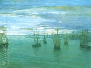 Crepuscule in Flesh Colour and Green 1866 - James McNeill Whistler reproduction oil painting