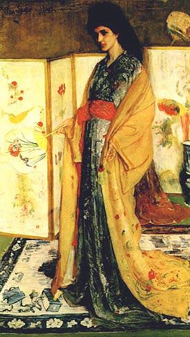 La Princess du pays 1864 - James McNeill Whistler reproduction oil painting