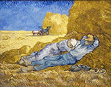 Noon Rest 1890 - Vincent van Gogh reproduction oil painting