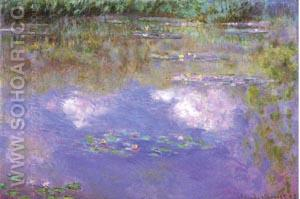 Waterlilies, Clouds 1903 - Claude Monet reproduction oil painting