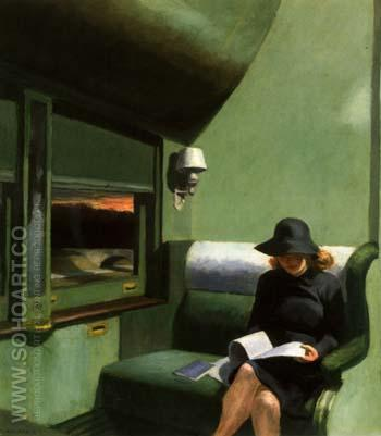 Compartment C Car 1938 - Edward Hopper reproduction oil painting